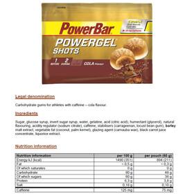 PowerBar PowerGel Shots 60g, Cola with Caffein